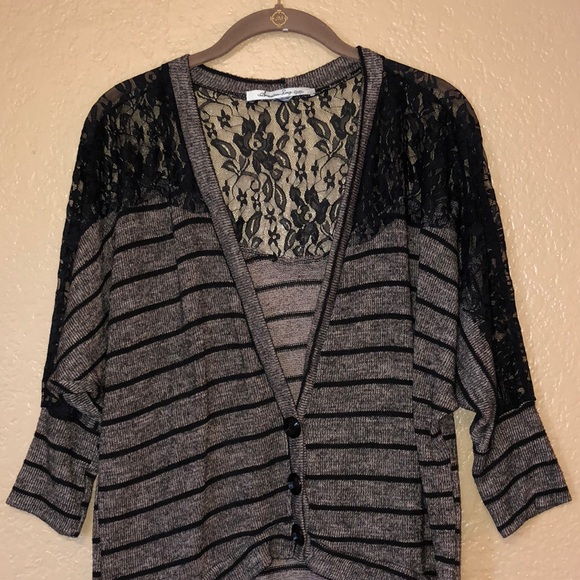 American Rag Sweaters - American Rag lace Cardi